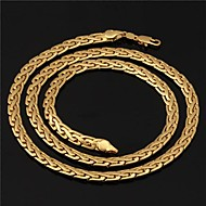U7® Men's High Quality 18K Gold Filled Figaro Chunky Chain Necklaces 6MM 55CM With 18K Stamp