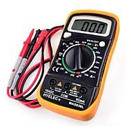 hyelec® mas830l dc / ac multímetro resistência tensão de corrente portáteis de medição testador digital com luz de fundo& protecção caso