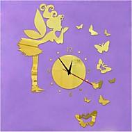 3D DIY Modern Style New Angel Butterflys Mirror Wall Clock