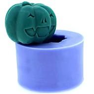 Halloween-Kürbis-Fondant-Kuchen Schokolade Kerze Silikonform, l4.3cm * w4.3cm * h3.3cm