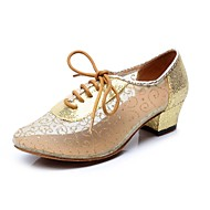 Латинской женские сандалии низком каблуке блестка танцевальной обуви (больше цветов)