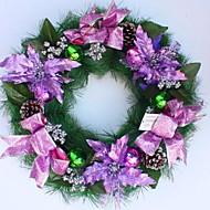 50センチメートル紫色のクリスマス松花輪