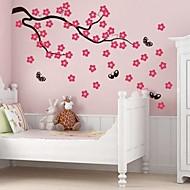 jiubai® árvore flor dos desenhos animados e da parede borboleta adesivos de parede decalque