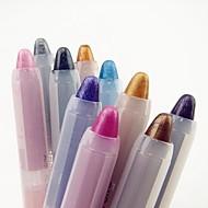 10db 2in1 színes káprázatos csillogó szemhéjfesték toll&szemceruza készlet