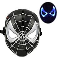 kühl leuchtenden LED Spiderman-Maske für Halloween (schwarz&rot)
