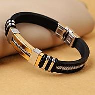 klassiske mænds høj kvalitet 316L rustfrit stål wrap læder armbånd smykker