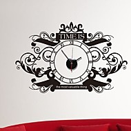 Wall Stickers Wall Decals,  European style Fashion pattern clock PVC Wall Stickers