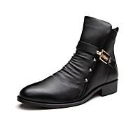 Kozačky Černá Pánské boty Kůže Běžné