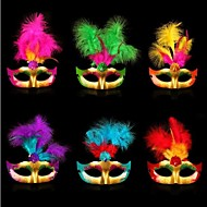 kunststof themafeest halloween masker (willekeurige kleur)
