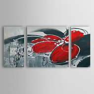 Kézzel festett Absztrakt Három elem Vászon Hang festett olajfestmény For lakberendezési