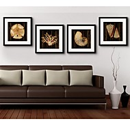 Hayvanlı / Fantazie Kanvas v rámu Wall Art,PVC Černá Včetně pasparty s rámem Wall Art