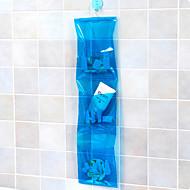 сумки трехуровневая ПВХ висит хранения (случайный цвет)