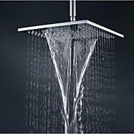 10 Inch Square Brass Chrome Bathroom Waterfall And Rain Shower Head