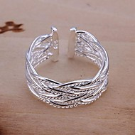 925 Silver Braided Opening Ring (1Pc)