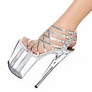 Chaussures Femme - Habillé - Argent - Talon Aiguille - Talons / A Plateau / Gladiateur - Sandales - Similicuir