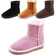 Boy's / Girl's Boots Winter Snow Boots Fur Outdoor / Casual Flat Heel Slip-on / Fur Black / Brown / Gray / Tan
