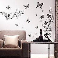 Wall Stickers Wall Decals, Flowers Home Decor Quotes PVC Wall Stickers