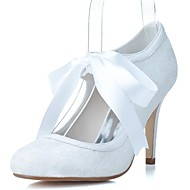 Women's Wedding Shoes Heels/Round Toe Heels Wedding/Party & Evening Black/Blue/Pink/Ivory/White