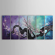 Hand-Painted Floral/Botanical More than Five Panels Canvas Oil Painting For Home Decoration