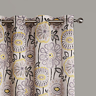 Philips Young - Two Panels  Contemporary Abstract Artistic Blossom Curtains Drapes