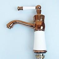 or rose un trou poignées simples salle de bains robinet d'évier