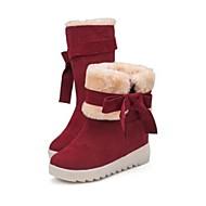 נעלי נשים - מגפיים - דמוי עור - מגפי שלג - שחור / אדום / אפור - קז'ואל - עקב נמוך