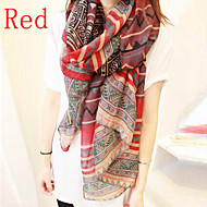 Women's Bohemian Ethnic Print Paris Yarn Scarf