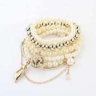 Frauen multi-Katze Perle Stretch-Armband