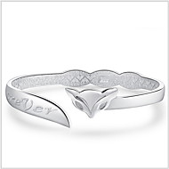 Manschett Armband Dam Silver