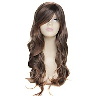 25 Inch Long Highlight light brown Wave Female Elegant Fashion Synthetic Celebrity Wig