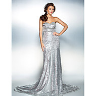 TS Couture® Formal Evening Dress - Sparkle & Shine Plus Size / Petite Trumpet / Mermaid Strapless / Sweetheart Court Train Sequined with Beading