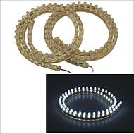 carking ™ pvc-72cm tira ligera llevada flexible impermeable para coches / motos-2pcs