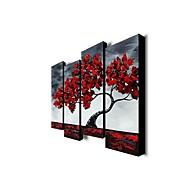 Maalattu Abstrakti 4 paneeli Kanvas Hang-Painted öljymaalaus For Kodinsisustus
