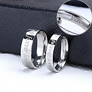 Personalized Gift Couple Rings Stainless Steel Engraved Jewelry
