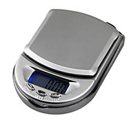 mini pocket sieraden schaal elektronische weegschaal 500g / 0.1g, plastic 10x7x2.5cm