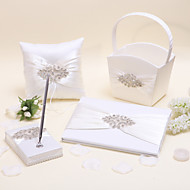 Elegant Collection Sets(Set Of Four , Pen Holder , Guest Book ,Flower Baskets , Ring Pillow is Included)