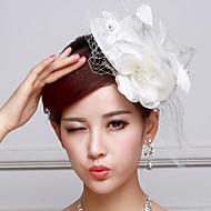 Women's/Flower Girl's Satin/Lace Headpiece - Wedding Fascinators/Flowers/Hats
