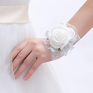 "Wedding Flowers Round Roses Wrist Corsages Wedding / Party/ Evening Foam 0.39""(Approx.1cm)"