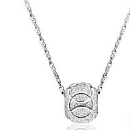 Ladies' Silver Lucky Pendants Necklace