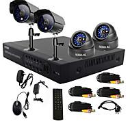 twvision® 4 canales de un solo toque sistema de cctv dvr en línea (4 canales de grabación D1)