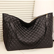Women PU Formal / Casual / Office & Career / Shopping Shoulder Bag / Tote Black