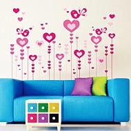 estilo romance de amor de parede decorativo decalques adesivos de parede