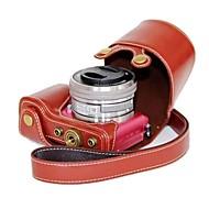 pajiatu® PU lær kamera beskyttende etui til Sony Alpha A5000 ilce-5000 a5100 ilce-5100 NEX-3N