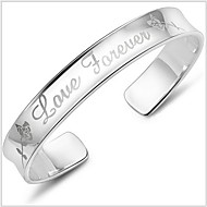 Unisex Silver Loveforever Rose About With Bracelet