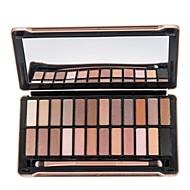 24 Paleta de Sombras Secos / Mate Paleta da sombra Pó Normal Maquiagem para o Dia A Dia / Maquiagem para Halloween