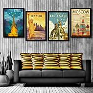 Architecture Toile Encadrée / Set de Cadres Wall Art,PVC Noir Sans Passepartout Avec Cadre Wall Art