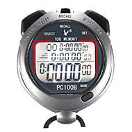 100 geheugens 1 / 100s 3 lijn 10h countdown tijd& kalender digitale stopwatch voor sport sprong pc100b