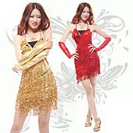 Costume New Style Dancer Doccia nappa slittamento latine Abito delle donne