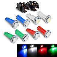 Instrument Panel Dashboard Light Bulb DC12V  0.2W T5 LED 5050SMD  Blue Red Green White  + Socket 10PCS JHK784001