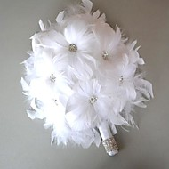 Nice Sweet Day White Feather Bridal Wedding Bouquet FP-501